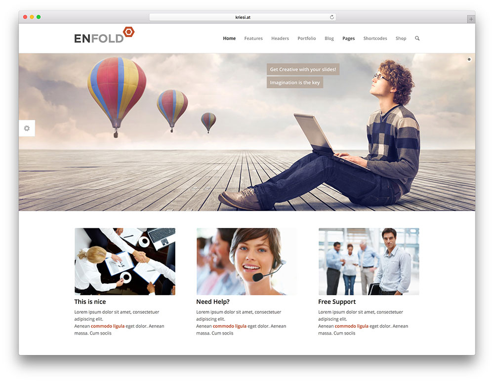 enfold Insurance WordPress Theme