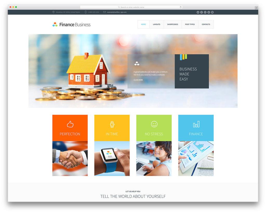 finance busines Insurance WordPress Theme