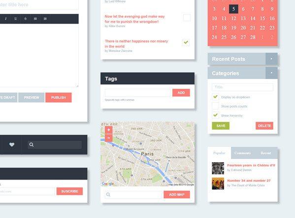 freebie codpen HTML5 CSS3 UI Kit