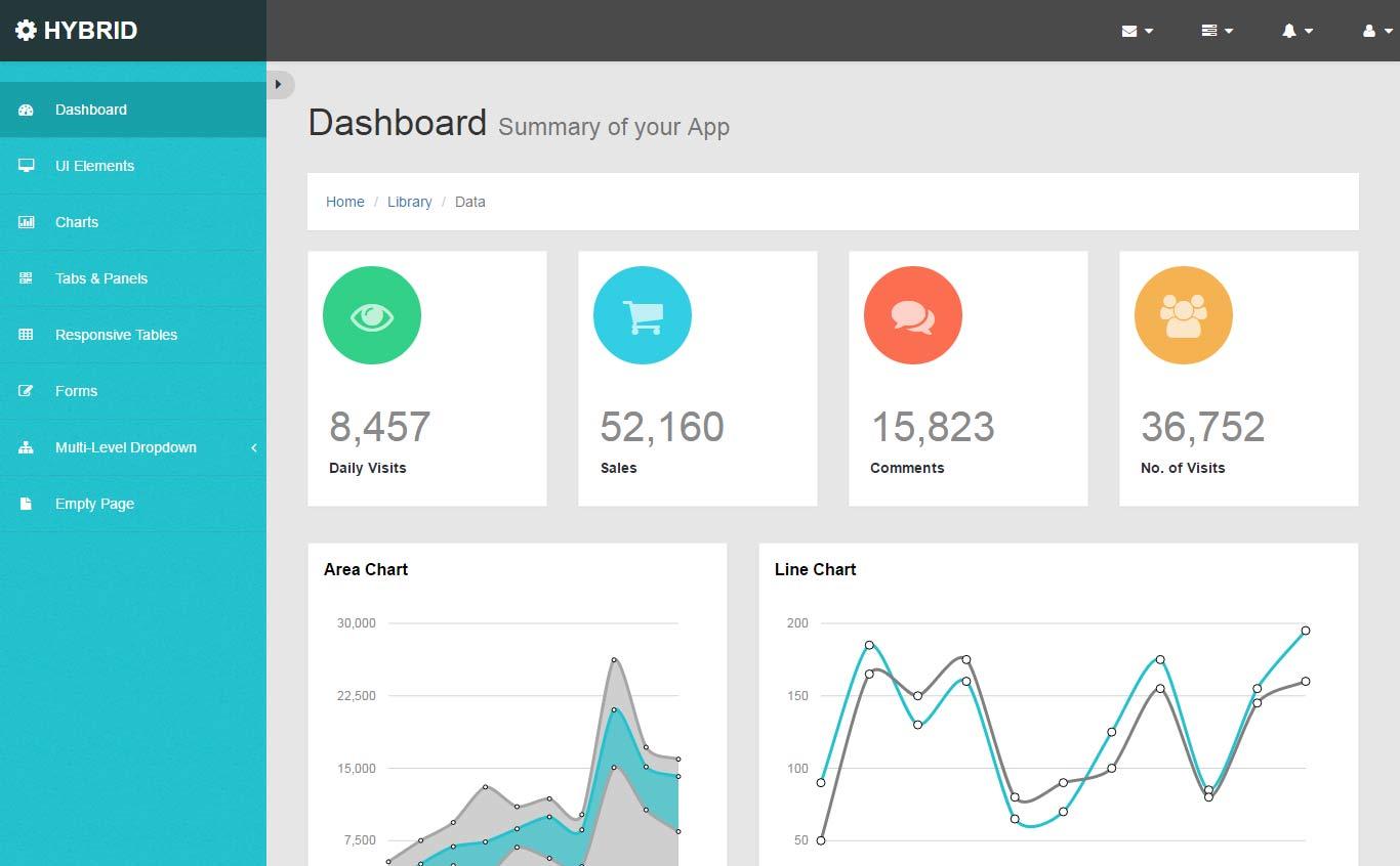 Hybrid Bootstrap Admin Dashboard