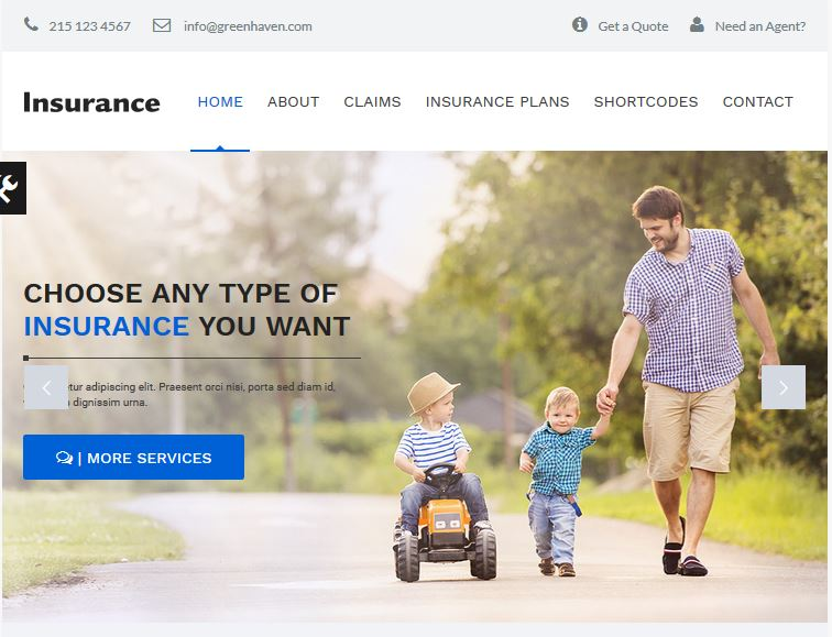 insurance wordpress agency theme