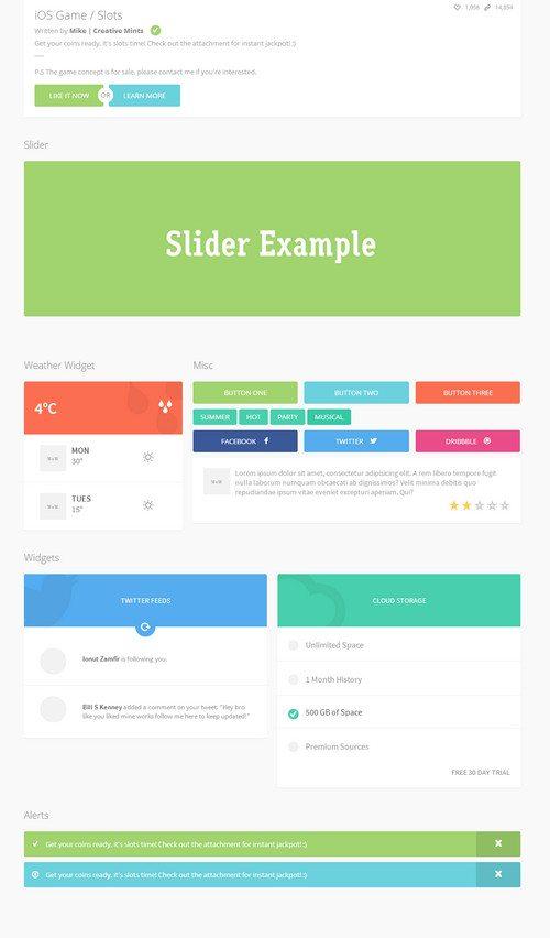 ios flat HTML5 CSS3 UI Kit