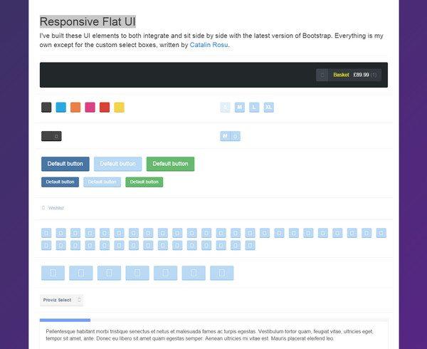 new HTML5 CSS3 UI Kit