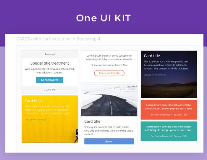 one HTML5 CSS3 UI Kit