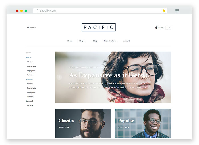 pacific Responsive Shopify Theme