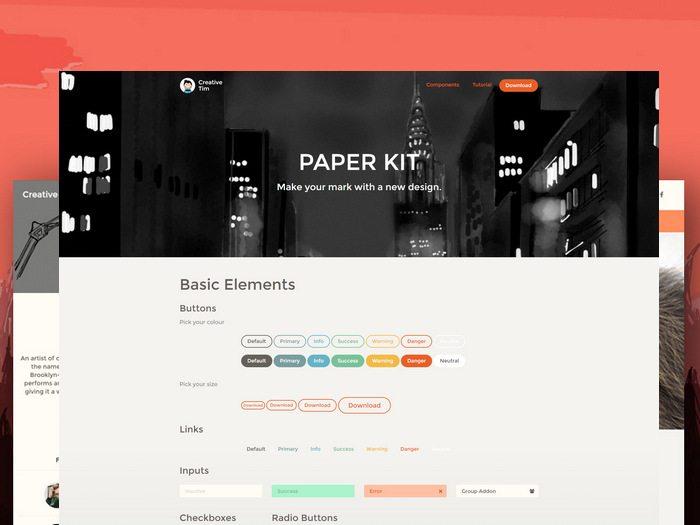 paper HTML5 CSS3 UI Kit