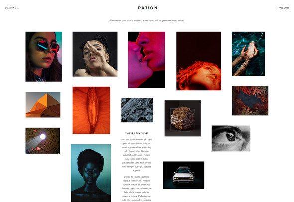 pation tumblr grid theme download
