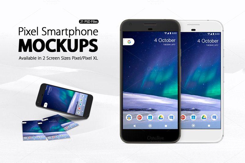 pixel smartphone mockups 2