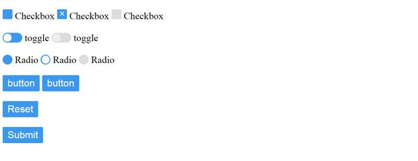 radio button HTML5 CSS3 UI Kit