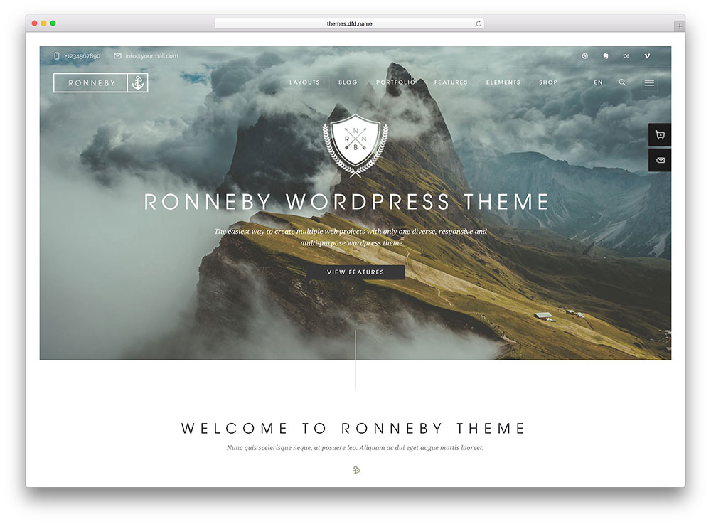 ronneby car repair Insurance WordPress Theme