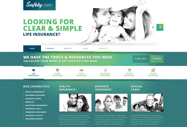 safety Insurance WordPress Theme