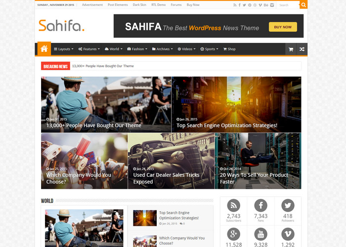 sahifa Affiliate Marketing WP Themes