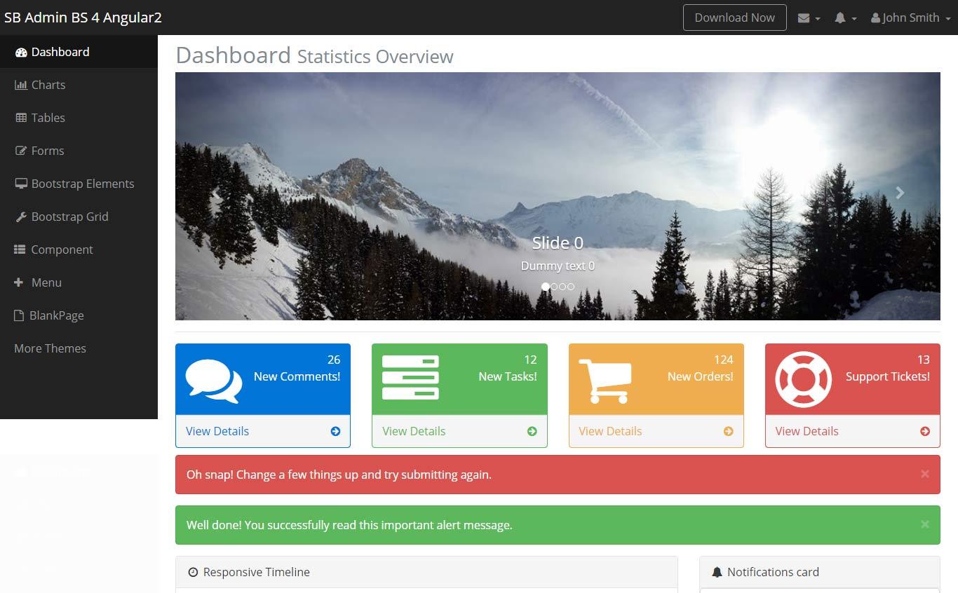 SB Admin Bootstrap 4