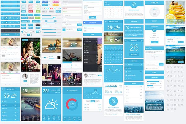 standard Display HTML5 CSS3 UI Kit