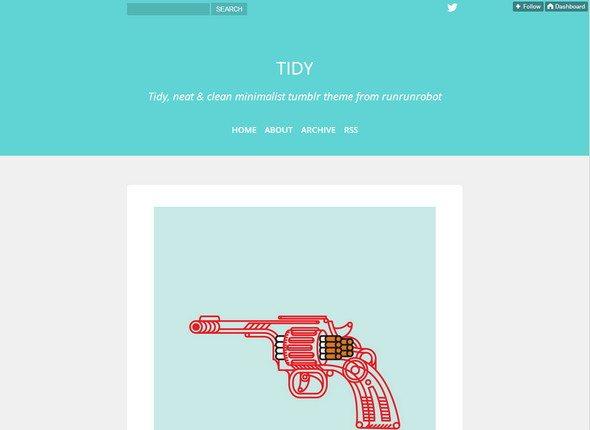 tidy tumblr themes