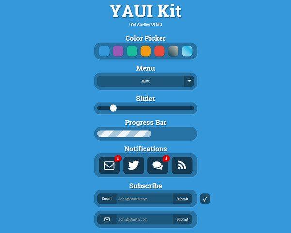 yaui HTML5 CSS3 UI Kit download