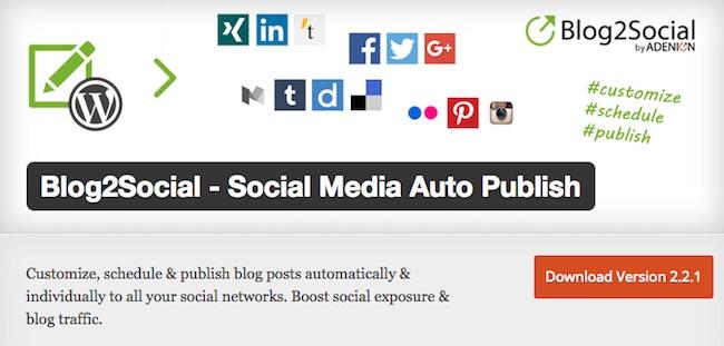 Blog2Social Social Media Plugins