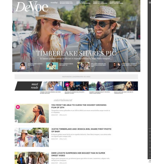 DeVoe Flat WordPress Theme
