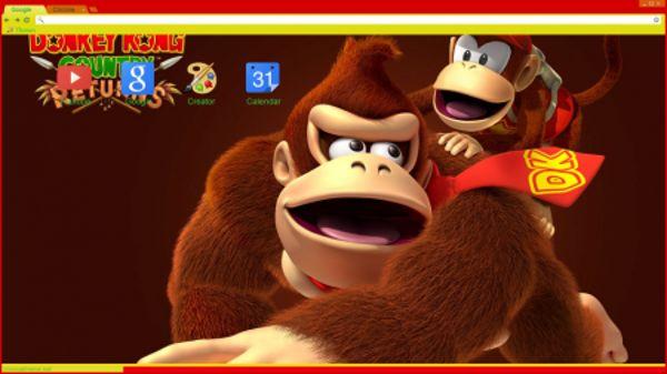 Donkey n Diddy Kong Chrome Theme