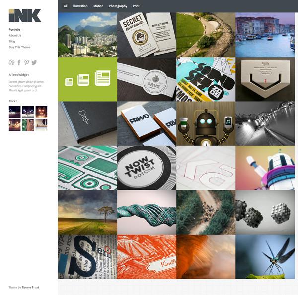 Ink Responsive Flat Design Template