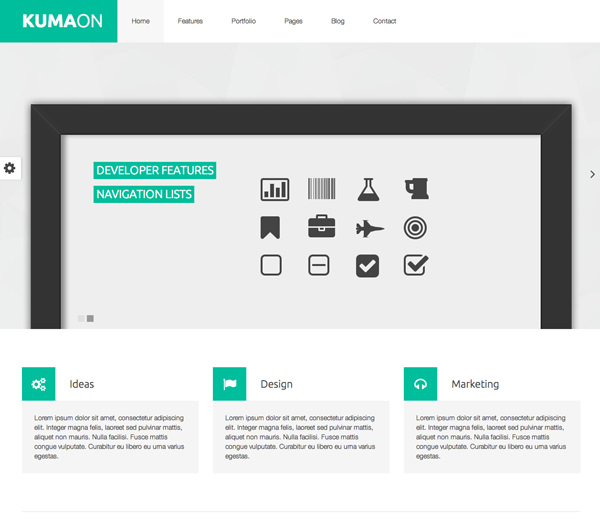 Kumaon Responsive Flat Design Template