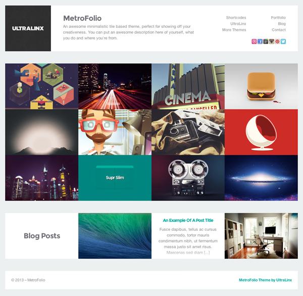 MetroFolio Responsive Flat Design Theme
