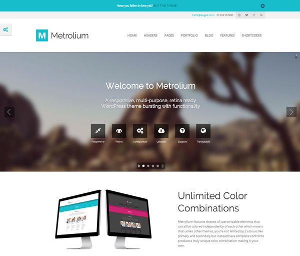 Metrolium Responsive Flat Design Theme