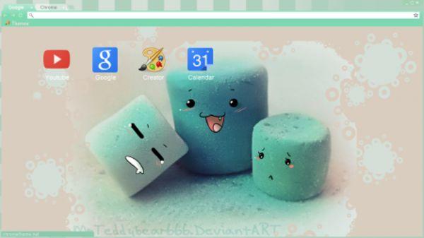 Pastel Marshmallows Chrome Theme