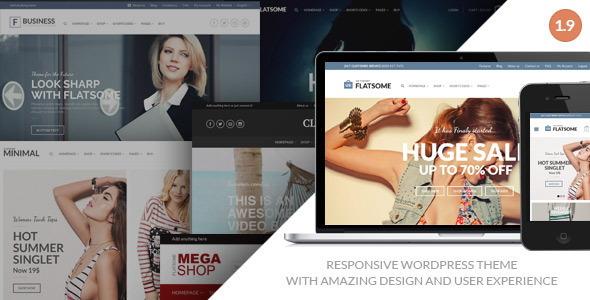 Responsive WooCommerce Theme Responsive Flat Design Theme