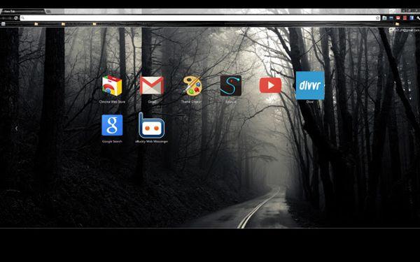 Simple dark Chrome theme