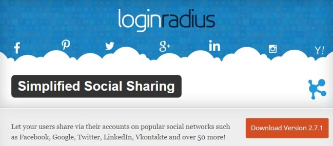 Simplified Social Media Plugins