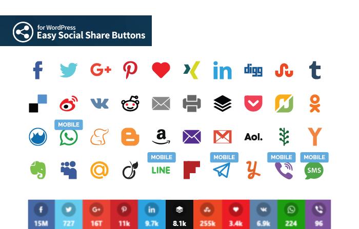 Social Share Buttons plugins