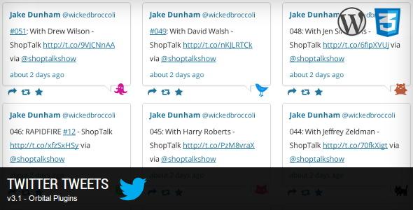 Twitter Tweets Social Media Plugins