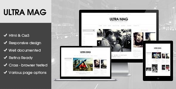 Ultra Mag Responsive Flat Design Template