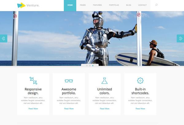 Venture Responsive Flat Design Theme