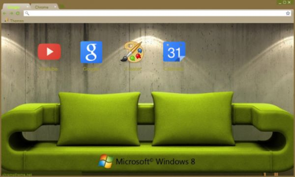 Window 8 Living Room Chrome Theme