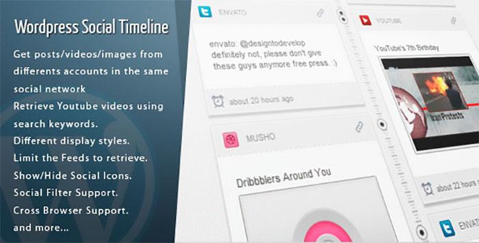 Wordpress Social Timeline plugins