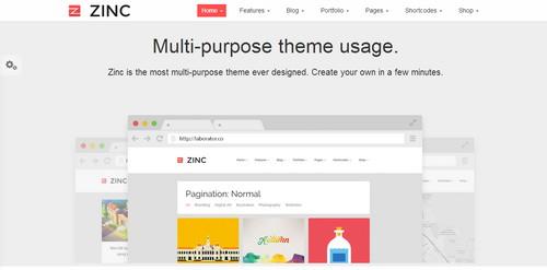 Zinc Responsive Flat Design Template