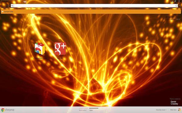 abstract Chrome Theme