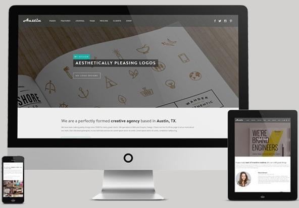austin Responsive Flat Design Template