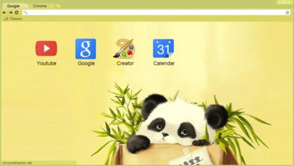 baby panda Chrome Theme
