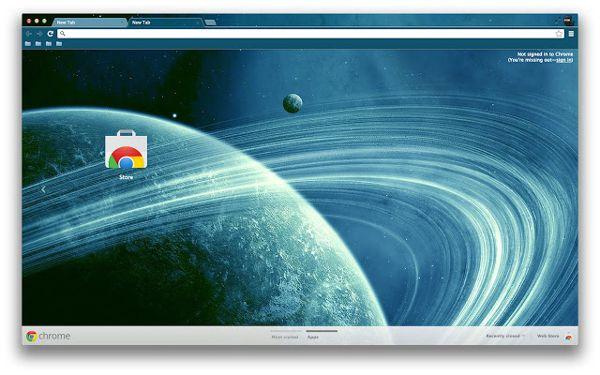 blue planet Chrome Theme