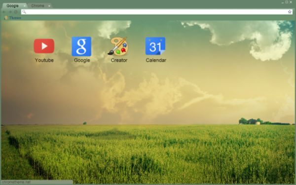 green horizon Chrome Theme