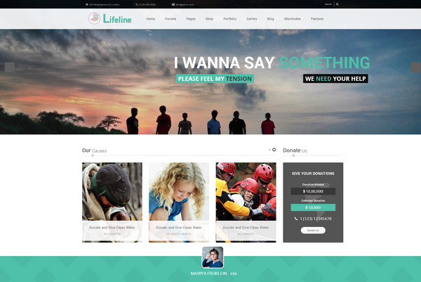 lifeline Responsive Flat Design Template