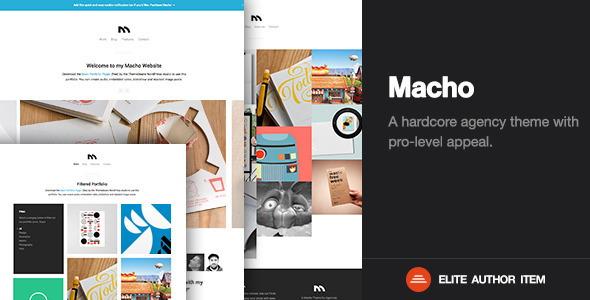 macho creative Responsive Flat Design Template