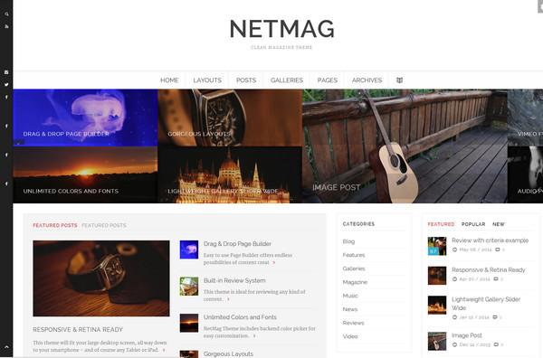 netmag Responsive Flat Design Template