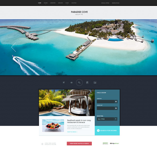paradise theme Responsive Flat Design Theme