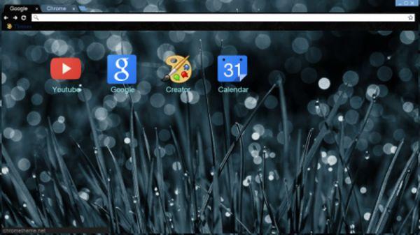 rainy drops Chrome Theme