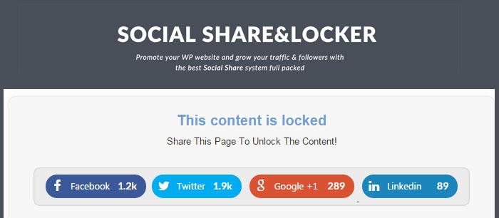 social content locker plugins