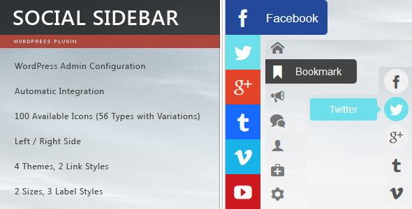 social sidebar Social Media Plugins